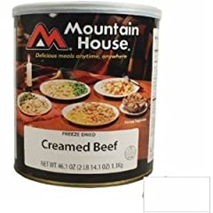 Mountain House Creamed Beef #10 Can Freeze Dried Food - 6 Cans Per Case by Mountain House