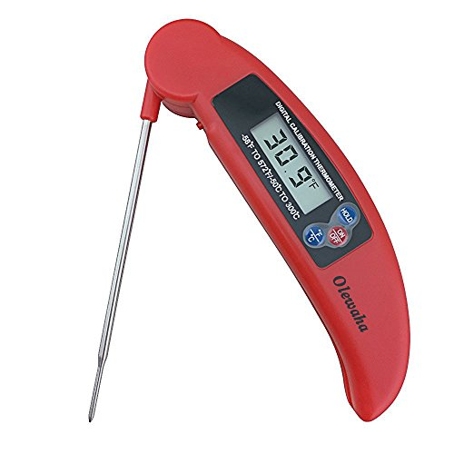 Instant Read Meat Thermometer - Long Probe Collapsible Pocket Thermometer Cooking Digital Thermometer w/ LCD Screen - for Food, Meat, Grill, BBQ, Milk, and Bath Water (Cooking And compare prices)