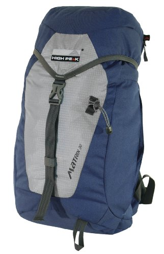 High Peak Rucksack Matrix, grau/blau, 44 x 31