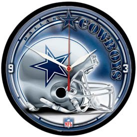 <b>Dallas Cowboys NFL Football Club Large 12 Inch Wall Clock</b>