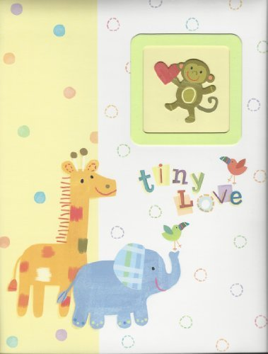 """tiny Love"" Baby's First Record Memory Book Keepsake First 5 Years Giraffe Elephant Monkey Baby Book - 1"