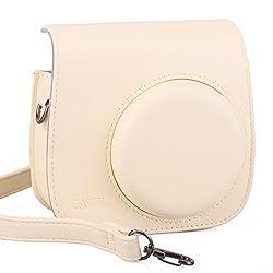 CAIUL Cream PU Leather Fujifilm Instax Mini 8 Case