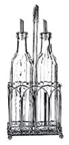 Global Amici Z7CL240R Classic Oil and Vinegar Set 17-Ounce