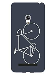 Bicycle - For Bicycle Rider - Hard Back Case Cover for Asus Zenfone 5 - Superior Matte Finish - HD Printed Cases and Covers