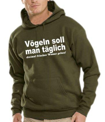 Felpa con cappuccio-shirt da uomo Touchlines volatili che si... , Kaki, alalal, B7116