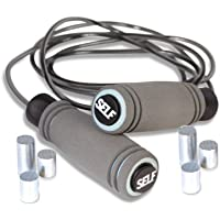 Self HHR-SF004A Fitness Adjustable Weighted Jump Rope (Gray)