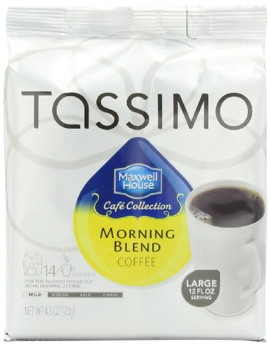 Maxwell House Cafe Collection Morning Blend,Mild, T-Discs for Tassimo Coffeemakers, 14-Count Packages (Pack of 5)
