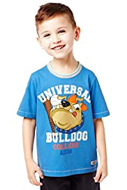 Pure Cotton Short Sleeve Bulldog T-Shirt