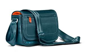 Be.ez - 101042 - Sac bandoulière LE reporter Retro - Kingfisher