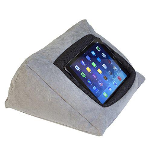 IPAD support de stand d'oreiller de coussin d'iPad (GRIS) pour l'iPad et d'autres dispositifs de tablette. Utilizzazione autour de la maison, dans ou sur le bureau illuminato le. Éviter l'iPad RSI et l'épaule d'iPad