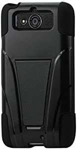 Reiko Silicon Case and Protector Cover Motorola Droid Mini Xt1030 New Type Kickstand - Retail Packaging - Black