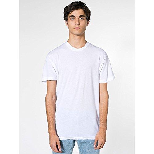 American Apparel - Maglietta Girocollo Tinta Unita - Unisex (S) (Bianco)