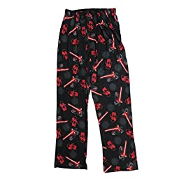 Star Wars Men\'s Knit Lounge Pants, Black, Small