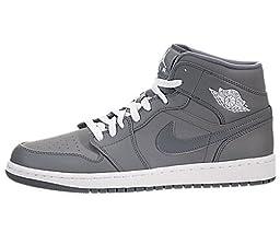 Nike Jordan Men\'s Air Jordan 1 Cool Grey/White/Cool Grey Basketball Shoe 10 Men US