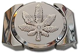 Marijuana Pot Leaf Lighter Belt Buckle (LT-025)