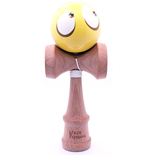 Kaleb Kendama With Yellow Face Ball And Extra String