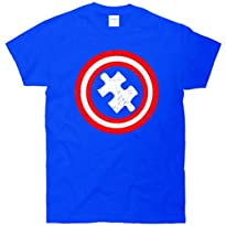 Captain Autism Distressed Shield T-Shirt