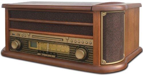 Camry-CR-1111-Radio-aund-giradischi-con-CDMP3USB-e-funzione-di-registrazione-marrone