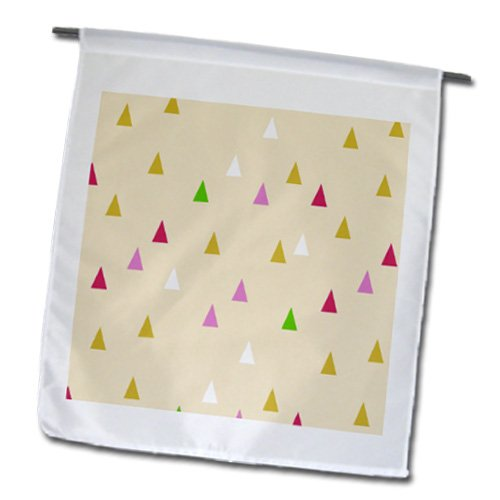 Fl_183936_1 Inspirationzstore Patterns - Triangle Pattern - Creamy Beige Tribal Teepee Or Mountain Design - Flags - 12 X 18 Inch Garden Flag front-87900