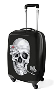 Lazy Days New Skull Small Hardcase 4 Spinner Wheel Luggage Trolley Suitcase Holiday Travel