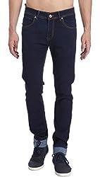 Erdferkel&Wobbegong Men's Jeans (LYNX07--36, Blue, 36)