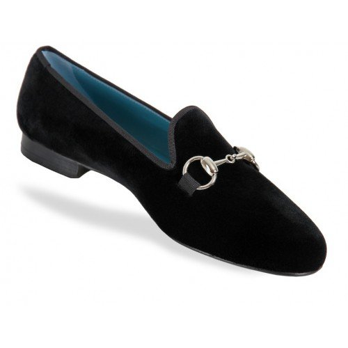 Rev Animas Code Women Black Velvet Metal Bit Size : 41