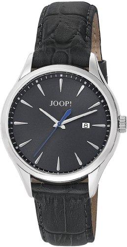 Joop  Composure Swiss Made - Reloj de cuarzo para hombre, con correa de cuero, color gris