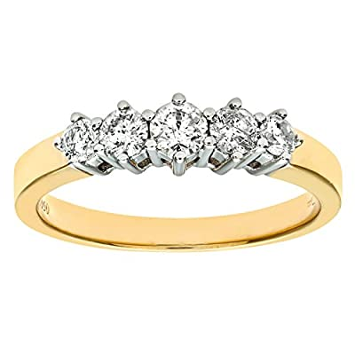 Ariel 9ct 0.50ct Diamond Graduated Eternity Ring
