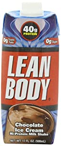 Labrada Nutrition Lean Body, Ready to Drink Chocolate Ice Cream, 17-Ounce (Pack of 12)