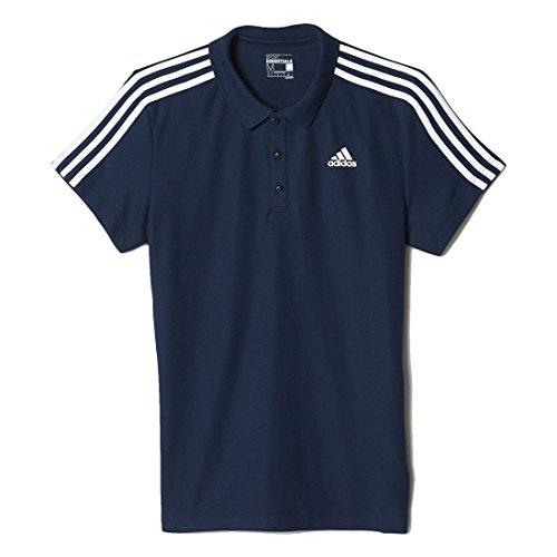 Adidas Ess 3S Polo Polo da Uomo, Nero/Bianco (Maruni/Bianco), M
