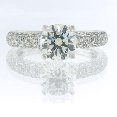 2.81ct Round Brilliant Cut Diamond Engagement