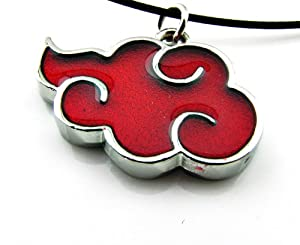 Naruto Red Cloud Necklace,With Annagle Ring Necklace