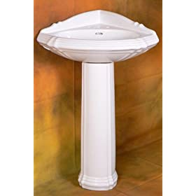 RE 1717W NEW CORNER PEDESTAL SINK