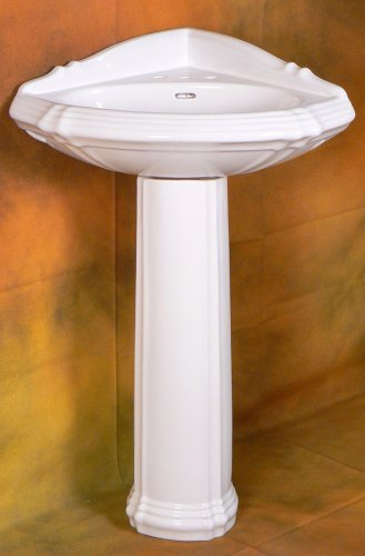 new corner pedestal sink this corner pedestal sink is perfect for any ...