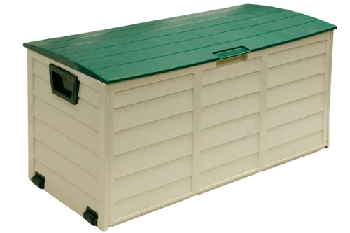 227L Beige Plastic Garden Storage / Cushion Box / Chest / Shed