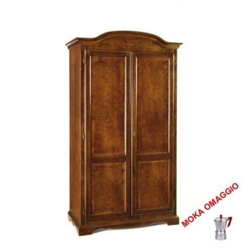 CLASSICO armadio legno mobile 2 ante legno per soggiorno salotto camera 275 107x55x197