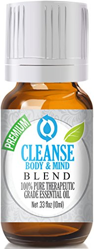 Cleanse Body & Mind Essential Oil Blend 100% Pure, Best Therapeutic Grade - 10ml - Citronella, Lemongrass, Rosemary, Tea Tree, Kashmir Lavender, French lavender