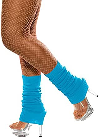 Fever Women's Legwarmers Neon In Display Pack, Blue, One Size