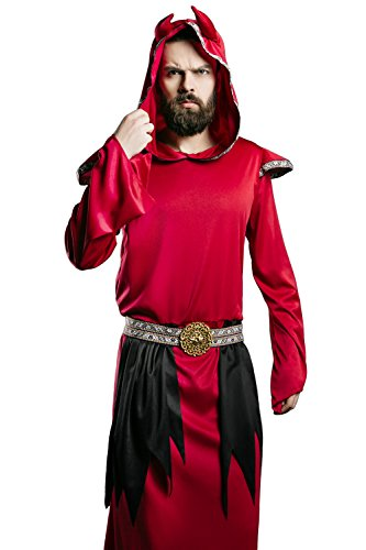 Adult Unisex Satan Halloween Costume Red Devil Demon Imp Dress up & Role Play (One Size - Fits All) (Unique Adult Halloween Costumes Ideas)