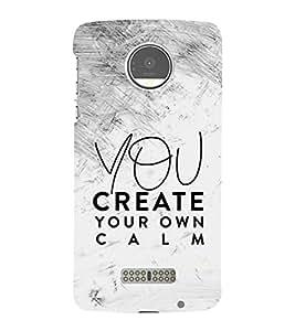 You Create your Calm 3D Hard Polycarbonate Designer Back Case Cover for Motorola Moto Z Force :: Motorola Moto Z Force Droid for USA