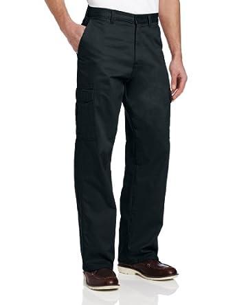 Dickies Men's Loose Fit Cargo Work Pant, Black, 30x30
