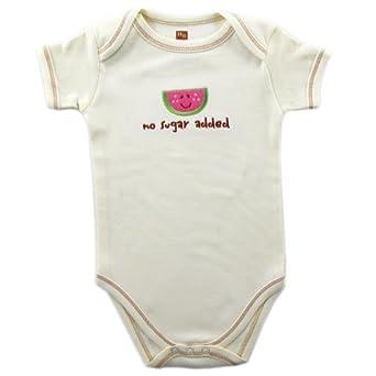Hudson Baby Organic Bodysuit - Watermelon Ecru 6-9 Months