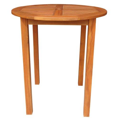 Solid Acacia / Teak Round Bar Table -*Natural Oiled* Finish