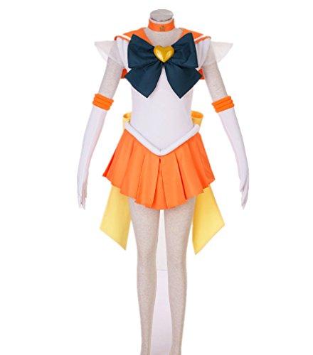 [Japanese Anime Sailor Moon Uniform Cosplay Costume Dress 7 Pcs Set - 23 Options] (Chibi Moon Costume)