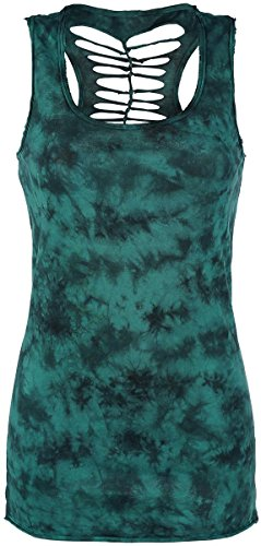 R.E.D. by EMP Cut Out Tank Top Top donna verde S