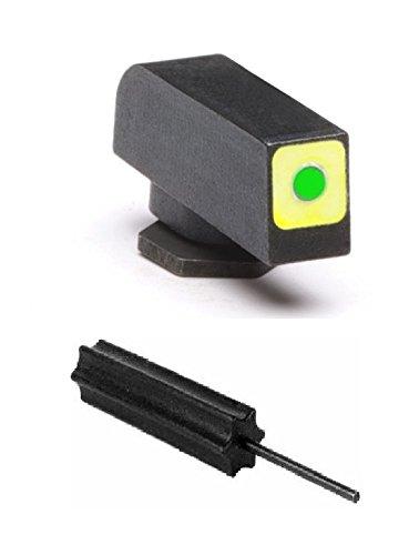 AmeriGlo GL-212-165-120-Q Glock Tritium Front Sight T-CAP Green Tritium Square FRONT .165