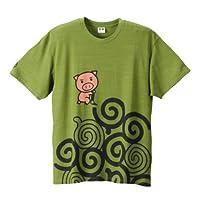 豊天 うずまき美豚柄半袖Tシャツ グリーン 1158-4552-1 [3L・4L・5L・6L] 大きいサイズ メンズ