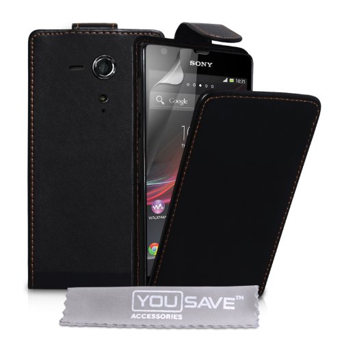 yousave-accessories-sony-xperia-sp-case-black-pu-leather-flip-cover