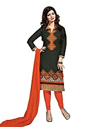 Navabi Export Women's Cotton embroidery Dress Material