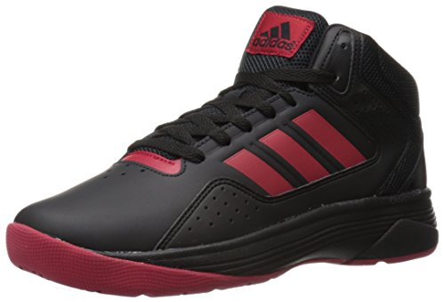 Adidas Performance Men's Cloudfoam Ilation Mid Basketball Shoe, Black/University Red/Black, 10.5 M US